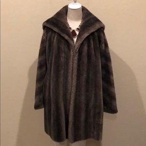 New Furgem Faux Fur Open Coat (No Size Tag)